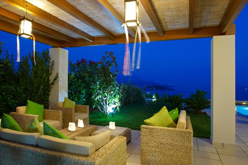 Terrace with patio furniture