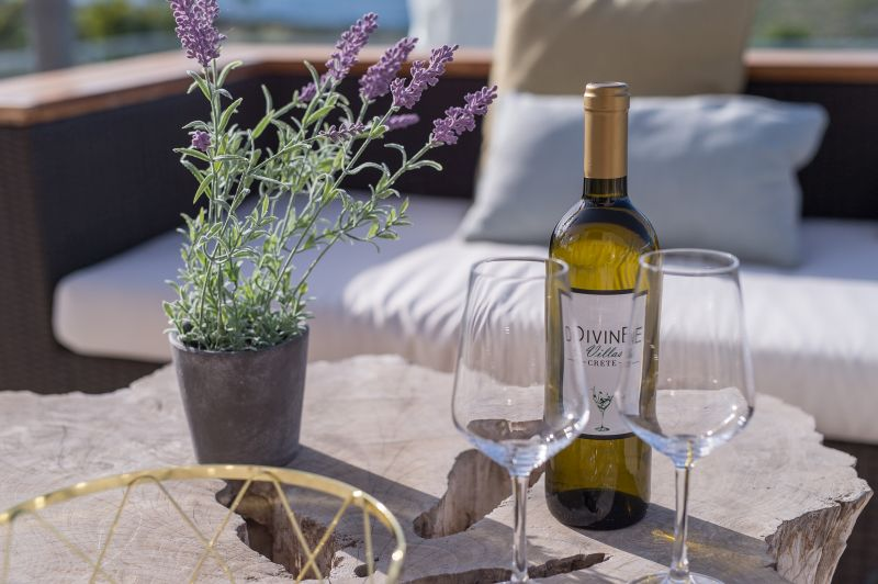 Enjoy a glass of wine at our balcony