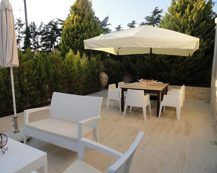 Terrace with outdoor furniture